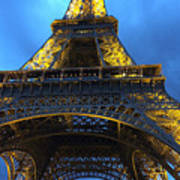 Eiffel Tower At Night. Paris Art Print