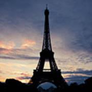 Eiffel Tower At Sunset, Paris, France Art Print by Photo by rachel kara