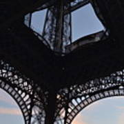 Eiffel Tower Corner Art Print