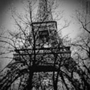 Eiffel Tower During The Winter. Art Print