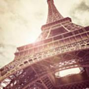 Eiffel Tower In Sunlight Art Print