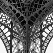 Eiffel Tower Leg Art Print