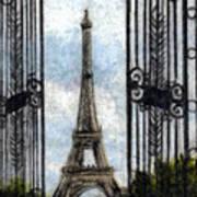 Eiffel Tower Art Print by Melissa J Szymanski