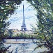 Eiffel Tower Paris France 2001   Art Print
