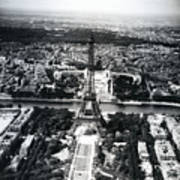 Eiffel Tower Paris In Wwii Art Print