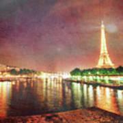 Eiffel Tower Reflections Art Print