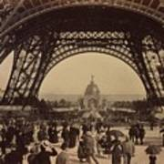 Eiffel Tower, View Toward The Central Art Print by Everett