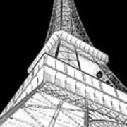 Eiffel Up Inverted Art Print