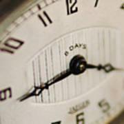 Eight Days A Week Clock Art Print