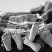 Eight Human Feet Art Print by Christian Gstöttmayr