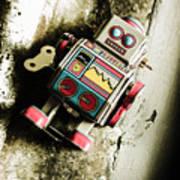 Eighties Cybernetic Droid  Art Print