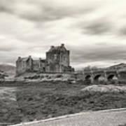 Eilean Donan Castle Bw 1337 Art Print