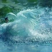 Ein Schwan - The Swan Art Print