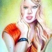 Eine Frau Ie The Girl Art Print
