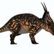 Einiosaurus Side Profile Art Print