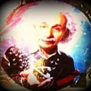 Einstein On Pot Art Print