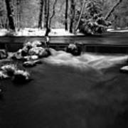 Eisbach In The Winter Art Print