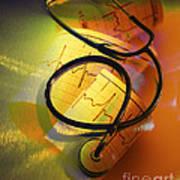 Ekg Stethoscope Composite Art Print
