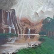 El Capitan Falls Art Print