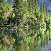 El Capitan Over The Merced River - Yosemite Valley Art Print