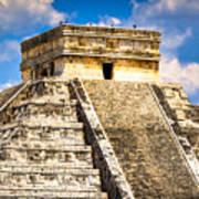 El Castillo - Pyramid At Chichen Itza Print by Mark E Tisdale