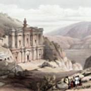 El Deir Petra 1839 Art Print