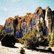 El Morro Cliffs Art Print