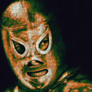 El Santo The Masked Wrestler 20130218 Art Print by Wingsdomain Art and Photography