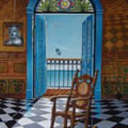 El Sillon De Abuelita Art Print