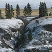 Elberton Cliffs In Winter Art Print