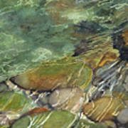 Elbow River Rocks 3 Art Print