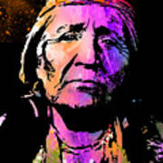 Elderly Hupa Woman Art Print
