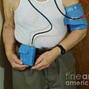 Elderly Man Wearing A Blood Pressure Art Print