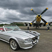 Eleanor Mustang With P51 Art Print