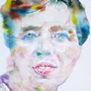 Eleanor Roosevelt - Watercolor Portrait Art Print