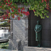 Eleanor's Alcove At The Fdr Memorial In Washington Dc Art Print