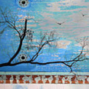Electric Blue Skies Art Print
