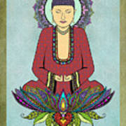 Electric Buddha Art Print