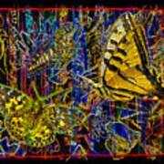 Electric Butterflies Art Print