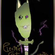 Electric Cat Art Print