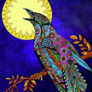Electric Crow Art Print