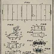 Electric Football Patent 1955 Aged Gray Art Print