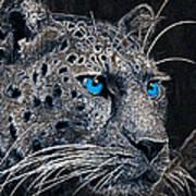 Electric Leopard Art Print