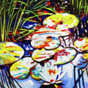 Electric Lillypads Art Print