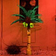 Electric Palm Tree Art Print