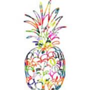 Electric Pineapple - Art By Linda Woods Art Print