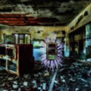 Electric Shock On Abandoned Hotel On Liguria Mountains - Pericolo Di Scossa Nell'hotel Abbandonato Art Print
