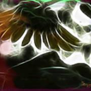 Electric Sunflower Art Print