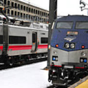 Electric Trains At Union Station Art Print