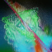 Electric Triangle In Green Art Print